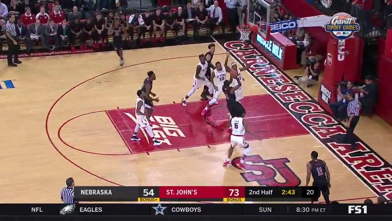 Owens Block to Backboard dunk