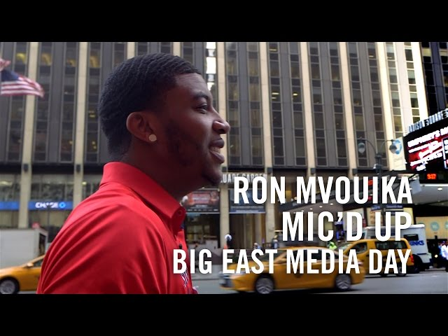 Ron Mvouika Mic'd Up: BIG EAST Media Day