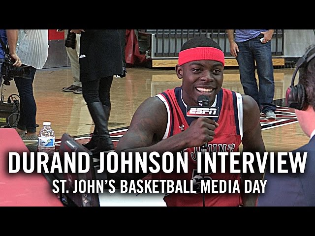 Durand Johnson Interview: St. John's Basketball Media Day